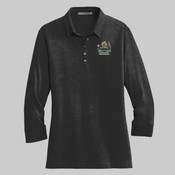 . - L578.pgp - Ladies 3/4 Sleeve Meridian Cotton Blend Polo