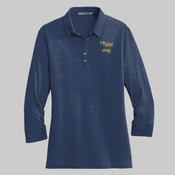 L578.pgp - Ladies 3/4 Sleeve Meridian Cotton Blend Polo